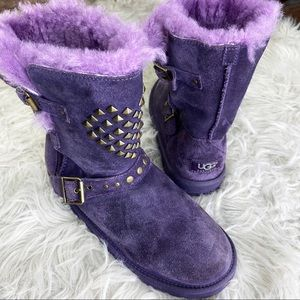 UGG Studded Purple Boots